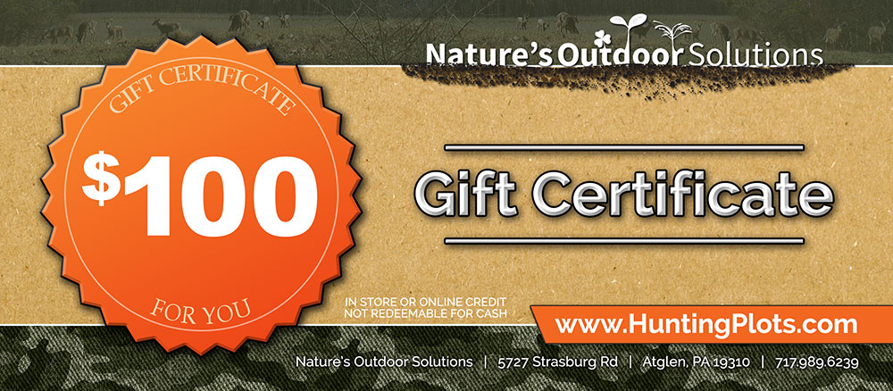 Thunder Ridge Outdoors Gift Certificates
